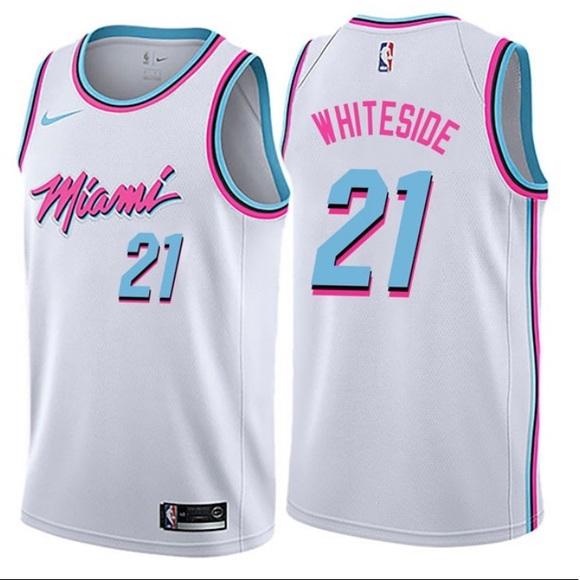 16ede8bd9109 Miami Heat City Edition Jersey (Hassan Whiteside)